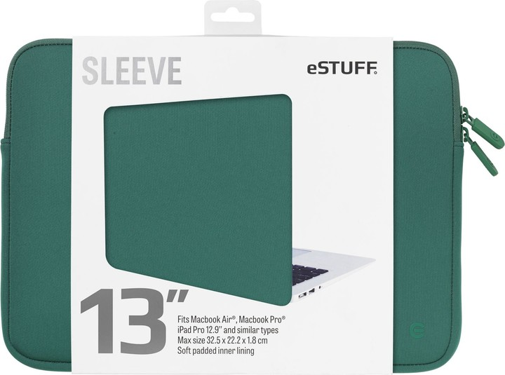 eSTUFF Macbook Air, iPad Pro 13'' Sleeve - Fits Macbook Pro, oasis