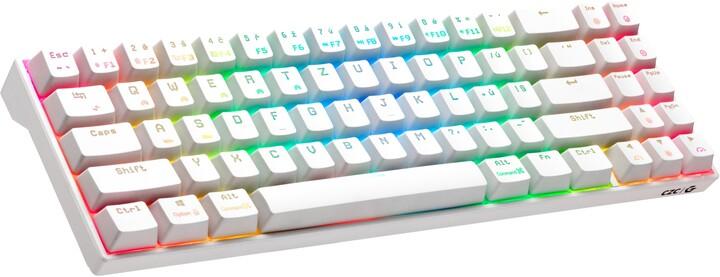 CZC.Gaming Halfling, herní klávesnice, Kailh Red, CZ, bílá