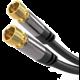 PremiumCord kabel satelitní F, M/M, HQ, (135dB), 4x stíněný, 5m, černá