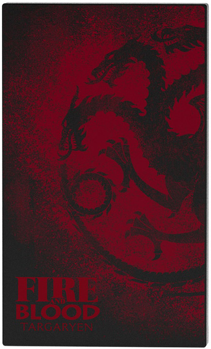 Tribe Game Of Thrones House Targaryen 4000mAh Power Bank - Černá