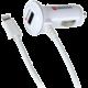 Skross USB nabíjecí autoadaptér, integrovaný kabel Apple Lightning + 1x 1000mA