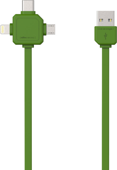 PowerCube Cable 1.5m, USB-C, zelený