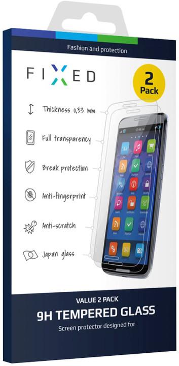 FIXED ochranné tvrzené sklo pro Apple iPhone 5/5S/SE, 0.33 mm, 2ks