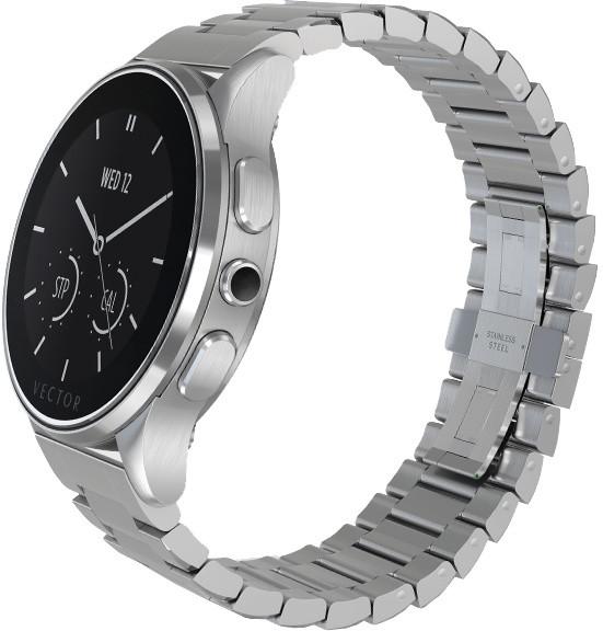 Vector SmartWatch Luna-Brushed SteelSteel Bracelet