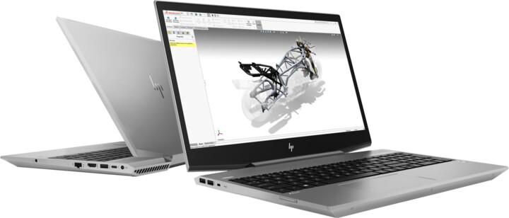 HP ZBook 15v G5, stříbrná