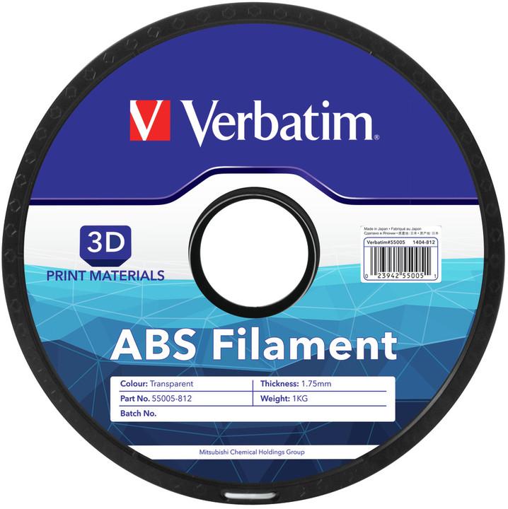 Verbatim tisková struna ABS, transparentní, 1,75mm, 1kg