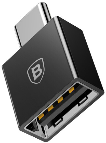Baseus Exquisite adaptér USB-C samec/USB samice, černá