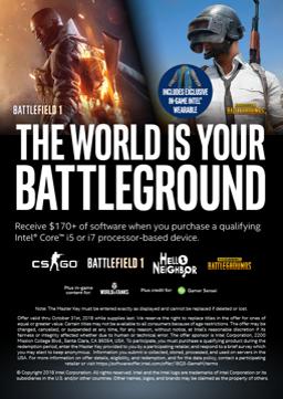 Intel Game Bundle v hodnotě 3700,- Kč
