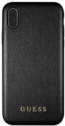 GUESS PU Leather Hard Case Iridescent pro iPhone Xr, černé