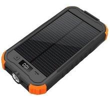 Viking solární outdoorová powerbanka CHARLIE II 12000mAh, černo-oranžová