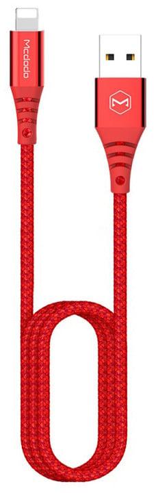 Mcdodo Flash datový kabel Lightning, 1,8m, červená