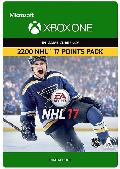 NHL 17 - 2200 NHL Points (Xbox ONE) - elektronicky