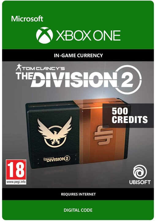 Tom Clancy's The Division 2 - 500 Premium Credits Pack (Xbox ONE) - elektronicky