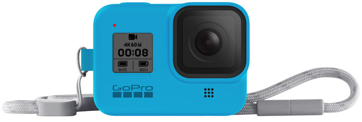 GoPro Sleeve + Lanyard (HERO8 Black) modrý