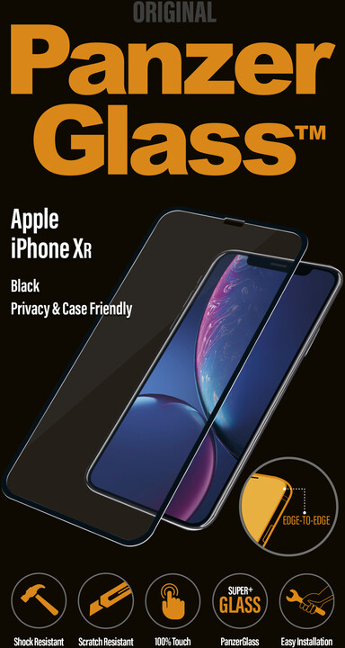 PanzerGlass Edge-to-Edge Privacy pro Apple iPhone Xr, černé