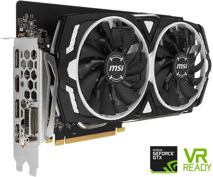 MSI GeForce GTX 1060 ARMOR 6G OC, 6GB GDDR5