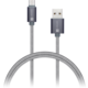 CONNECT IT Wirez Premium Metallic USB C - USB, silver gray, 1 m