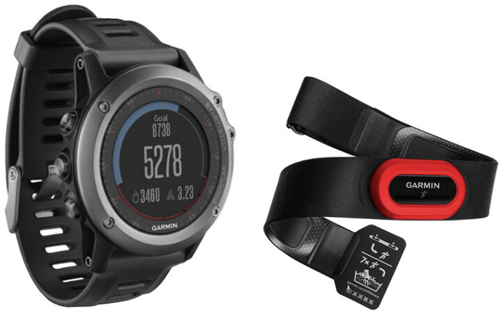 Garmin Fenix 3 Gray Performer s hrudním pásem HR RUN