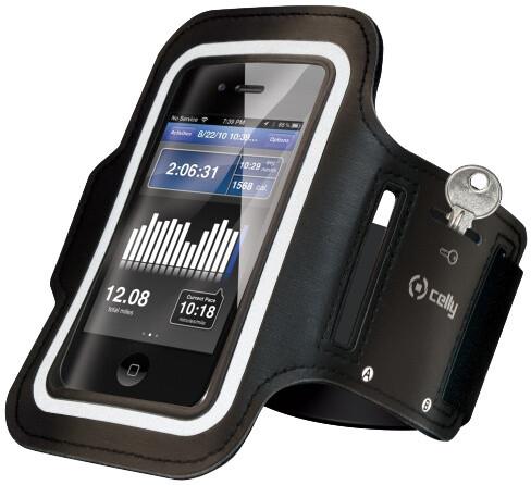 CELLY sportovní neoprénové pouzdro pro Apple iPhone 6 Plus, černá