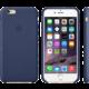 Apple Leather Case pouzdro pro iPhone 6 Plus, modrá