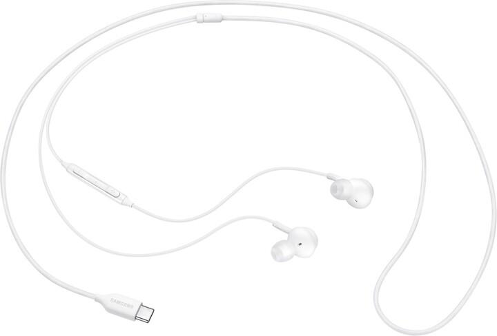 Samsung sluchátka s ovládáním hlasitosti EO-IC100BW, bílá