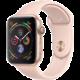 Apple Watch series 4, 40mm, pouzdro ze zlatého hliníku/růžový řemínek