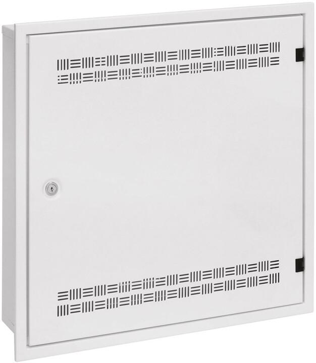 Solarix SOHO do zdi 2U,4U,11U, 550x550 bílá, RAL9003, rámeček k zazdění