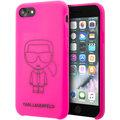 Karl Lagerfeld silikonový kryt Iconic pro iPhone 8/SE2, růžová