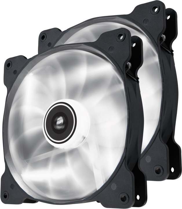 Corsair Air Series SP140, bílá led, 140mm, 2ks