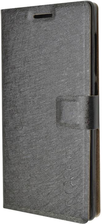 FIXED flipové pouzdro pro Lenovo A5000, černá