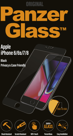PanzerGlass Edge-to-Edge Privacy pro Apple iPhone 6/6s/7/8, černé