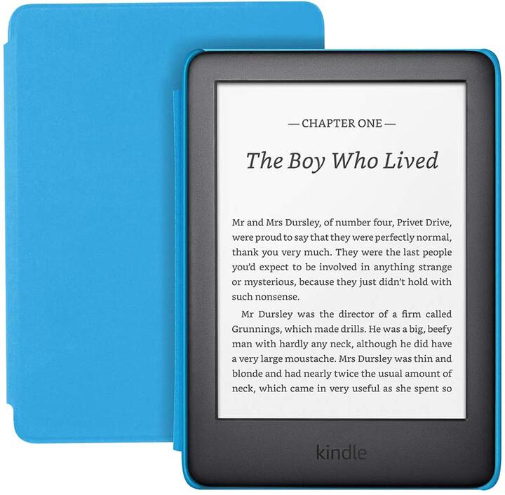 Amazon New Kindle 2020 8GB, černá + modré pouzdro - sponzorovaná verze