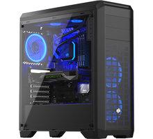 SilentiumPC RG4T RGB Pure Black, okno, černá