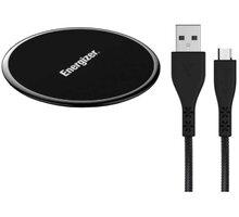 Energizer bezdrátová nabíjecí podložka LifeTime, Qi, 10W, s Micro USB kabelem, černá - WLACBLBKM
