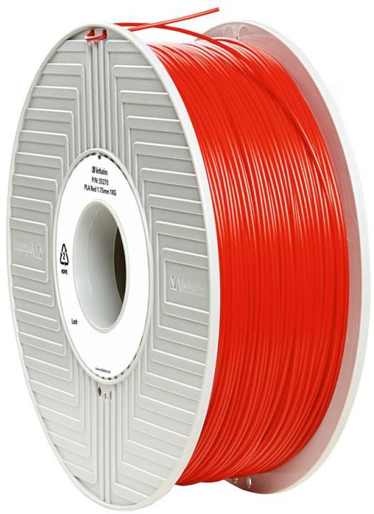 Verbatim tisková struna (filament), PLA, 1,75mm, 1kg, červená