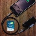 Scosche strikeLINE Rugged iLED 3F odolný kabel s Lightning konektorem a LED indikátorem