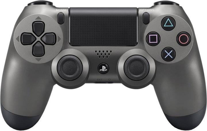 Sony PS4 DualShock 4 v2, metalicky černý