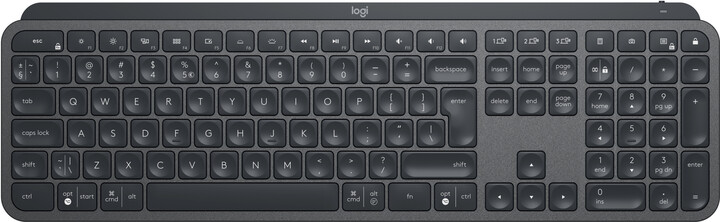 Logitech MX Keys, CZ, černá/grafitová