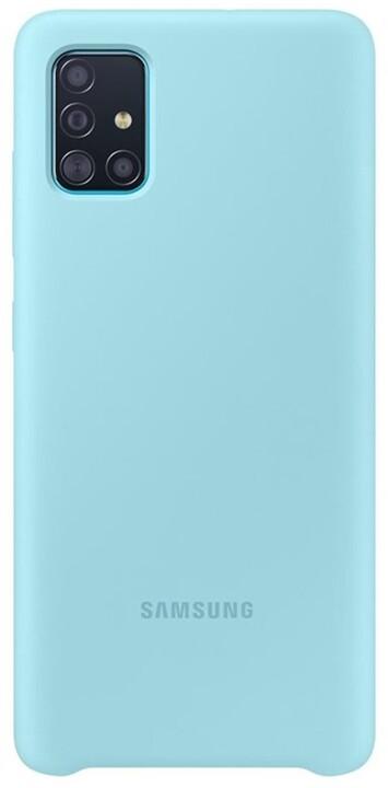 Samsung silikonový zadní kryt pro Samsung Galaxy A51, modrá