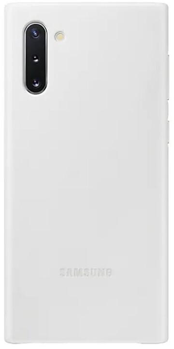 Samsung kožený zadní kryt Leather Cover pro Galaxy Note 10, bílá