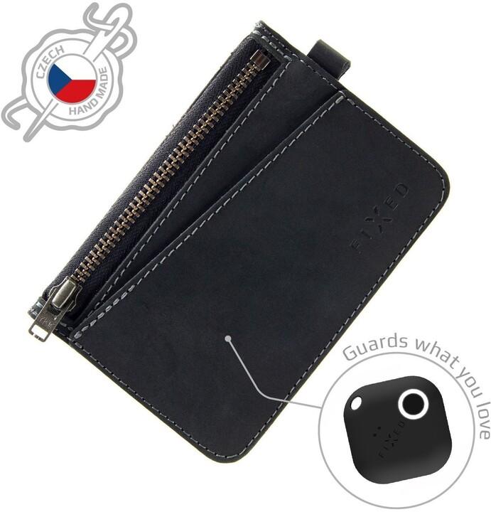 FIXED peněženka Smile Coins se smart trackerem, černá