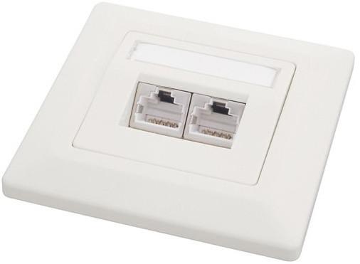 Solarix zásuvka CAT5E STP 2 x RJ45 pod omítku bílá SX9-2-5E-STP-WH