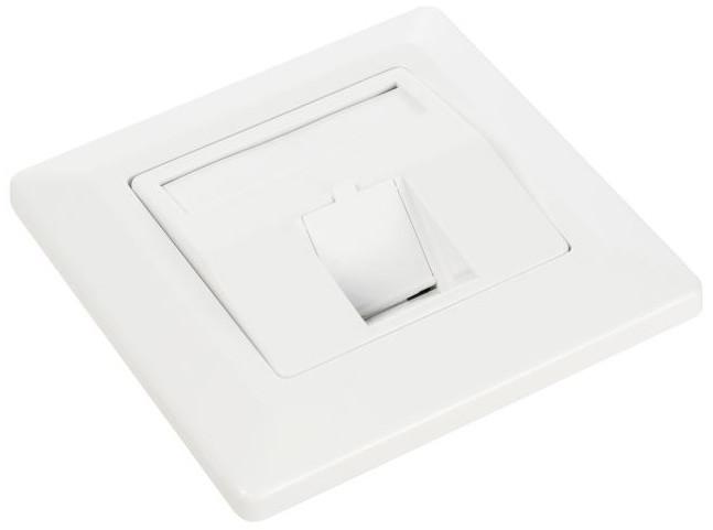 Solarix zásuvka modulární pro 1 keystone pod omítku bílá SX9-1-0-WH