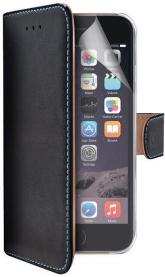 CELLY Wally Pelle pouzdro pro Apple iPhone 6 Plus , pravá kůže, černá