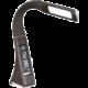 IMMAX LED stolní lampička Leather - 3 různé barvy světla/ flexibilní rameno/ USB/ hnědá