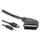 PremiumCord kabel S-video + 3,5mm stereojack na SCART 2m + kondenzátor