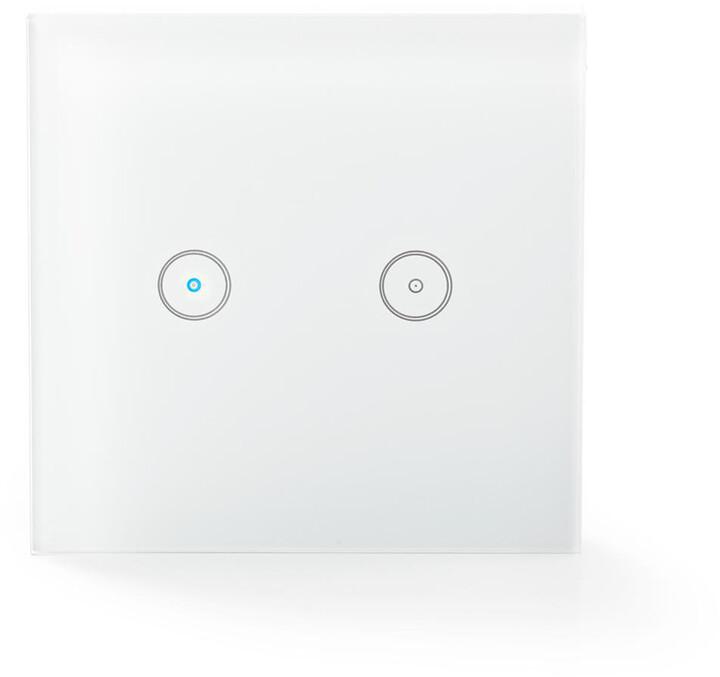 Nedis WiFi chytrý spínač osvětlení, dvojitý