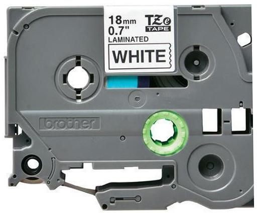 Brother páska - TZE-241, bílá / černá (18mm, laminovaná)