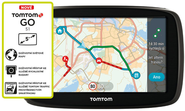 TOMTOM GO 51 World LIFETIME mapy