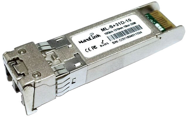 MaxLink SPF+ - 10G SFP+, SM, 1310nm, 10km, 2xLC konektor, DDM, HP kompatibilní